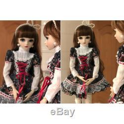 1/3 60cm BJD Doll Free Face Make up Dress Wig Shoes Eyes Girl Dolls Kids Toys