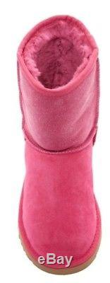 $150 UGG Australia Classic Diva Pink Short Serein Girls Big Kid Youth Size 5 NIB