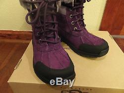 $170 Youth 3 UGG Kids Girls Butte Deep Purple Winter Boots -4F Event Waterproof
