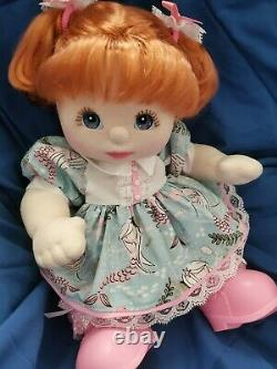 1985 My Child Mattel Doll Girl Red Hair Blue Eyes Dressed VGC pig tails shoes