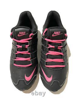 2015 Nike Shox Black/Pink Youth Shoes Sz 6Y Womens 7.5 8 739638-001
