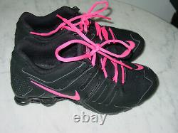 2015 Nike Shox Current Black/Pink Youth Running Shoes! Size 7Y