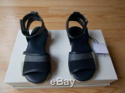 $220 Burberry Children Girls Livvy Ankle Strap Sandals Check Plaid sz 29 NWT