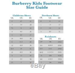 $220 Burberry Rhimes Kids Girl Plum/Pink Slip On Ankle Buckle Closure Flats 32
