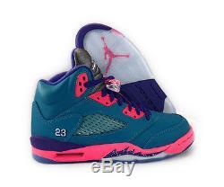 best authentic e6b17 a97a2 440892-307 Air Jordan Retro 5 Teal Pink Purple Girl Grade ...