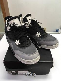 626970-030 Kids Shoes SZ 5Y Nike Air Jordan 4 Retro (GS) Stealth Oreo RARE Girls
