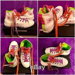 9 Pair Lot Converse All Star Sneakers Kids Girls Slip On Hi Tops Size 3