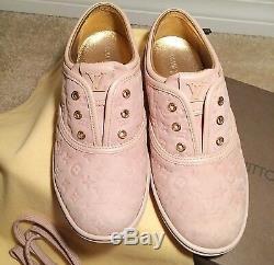 AUTHENTIC LOUIS VUITTON Monogram Kids Sneakers Shoes 31 Rose Pink