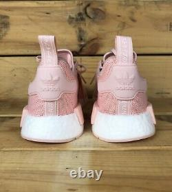 Adidas NMD R1 J Youth Girls Running Shoes Pink/White Size 6.5 EE6682