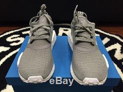 Adidas NMD R1 Runner Junior Charcoal Grey White GS Sz 4-7y Girls Kid S80204 Mesh