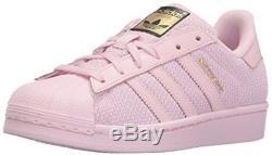 Adidas Originals Girls' Superstar J Skate Shoe, Pink/Pure Pink/Pink, 5 M US Big