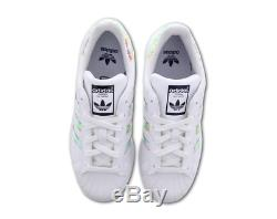 Adidas Superstar Cali Palm Irridescent White Kids Boys Girls Trainers All Sizes