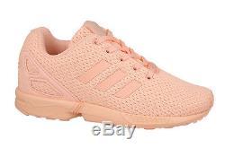 Adidas ZX Flux Coral Pink Peach BB2419 Boys Girls Kids Size 4-7Y GS Grade School
