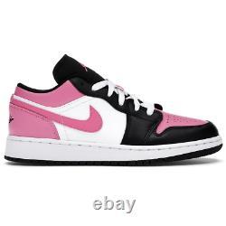 Air Jordan 1 Low Pinksicle GS White Black Pink Kids Shoes Size 5.5Y 554723-106