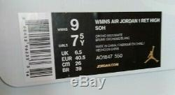 Air Jordan 1 Retro High SOH AO1847-550 Suede Satin Women Kids Girls Youth NEW DS