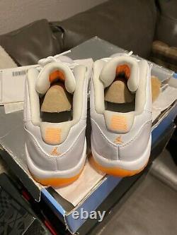 Air Jordan 11 Retro Low Citrus Big Kids 580521-139 White Shoes Youth Size 7.5