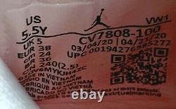 Air Jordan 4 Retro Lemon Venom Big Kids White Shoes CV7808-100 Youth Size 5.5Y