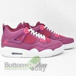 Air Jordan 487724-661 Kid's 4 Retro (GS) Shoes True Berry/Rush Pink-White