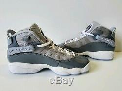 Air Jordan 6 Rings Cool Grey White Kids Boys Girls Shoes Sz 5.5Y (323419-015)