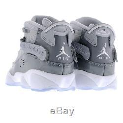 Air Jordan 6 Rings Cool Grey White Kids Boys Girls Shoes Sz 5Y (323419-015)