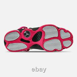 Air Jordan Grade School 6 Rings Shoe Black Hyper Pink White 323399-061 Size 7Y