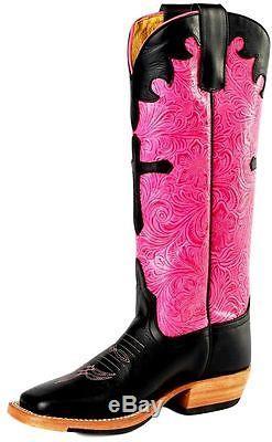 Anderson Bean Western Boots Girl Leather Cowboy Kids Cross Black K7052