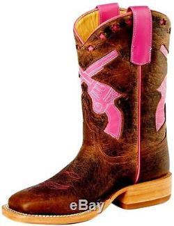 Anderson Bean Western Boots Girls Cowboy Kids Pistols Toast K7011
