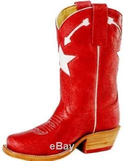Anderson Bean Western Boots Girls Kids Star Arrow 13 Child Red K7056