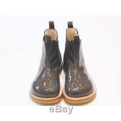 Angulus 6320-101 Girls Grey Patent Leather Chelsea Boots RRP £100