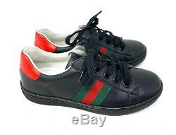 Authentic GUCCI Sherry Line Kids Shoes Boy Girl Black Size29 19cm US12 RankAA