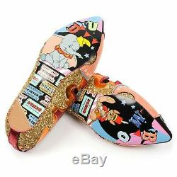 BNIB Irregular Choice X Disney Dumbo Ladies Flat Shoes EU 37 38 39 UK 4.5 5 6