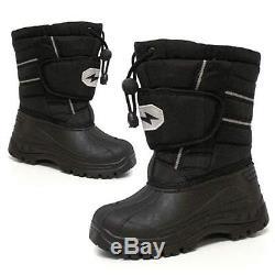 BOYS SNOW BOOTS GIRLS INFANTS WINTER WATERPROOF FUR WELLINGTONS MUCKER SHOE SIZE