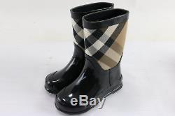 BURBERRY'Ranmoor' Kids Signature Check Pattern Waterproof Rain Boots Size 24