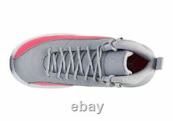 Big Kid's Jordan 12 Retro Racer Pink Wolf Grey/Racer Pink-Black (510815 060)