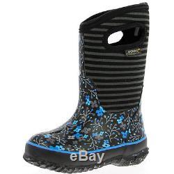Bogs Muck Boots Girls Kid 10 Classic Flower Stripe WP Rubber 71560
