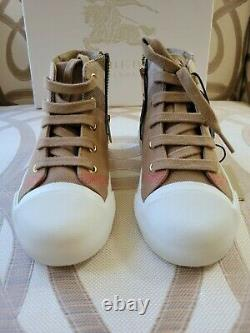 Burberry Boys Girls Boots Sneakers Shoes. Brand new. Size 27 NEW