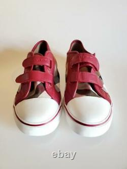 Burberry Check Double-Strap Sneaker (Big Girl) Shoes Size 35 EUR/ 3.5 US