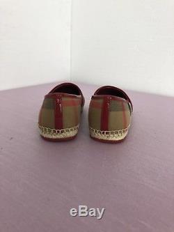 Burberry Kids Girls Clasic Check Espadrilles Ballerina Flats Sz 13 $180