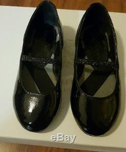 Burberry Toddler Ballerina Flat Shoes Black Sienna Aausy Size Eu 24 USA 8