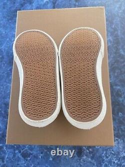 Burberry White Mini Larkhall Sneakers Shoes Size EU 30/US 12 $240