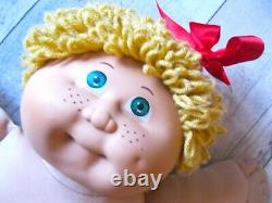 Cabbage Patch Kid Blonde Jesmar Hm3 Girl Overalls Outfit Unicorn Shoes