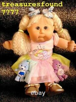 Cabbage Patch Kids/20 Tall/Girl Doll/WavyHair/CareBearsOutfit/2Bears/Shoes/Bows