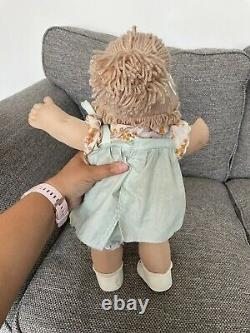 Cabbage Patch Kids Doll Jesmar Spain HM3 Girl Champagne Pony HTF Dress & Shoes