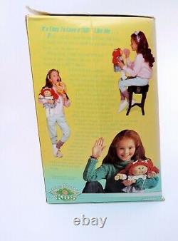 Cabbage Patch Kids Girl Doll Red Hair Green Eyes CPK Box Gingham Clothes Shoes