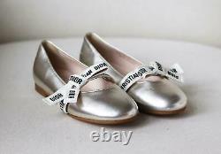 Christian Dior Kids Girls Miss B Leather Shoes Eu 30 Uk 12