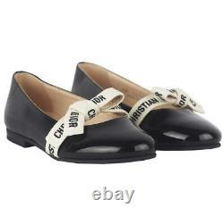 Christian Dior Kids Girls Miss B Patent Leather Shoes Eu 29 Uk 11
