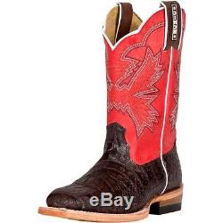 Cinch Western Boots Girls Leather Kids Caiman Print Brown Coral KCY107