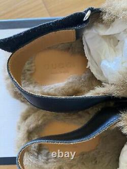 Cute Authentic Gucci Children Faux fur Lined Loafer/slides Shoes Size 32 (21cm)
