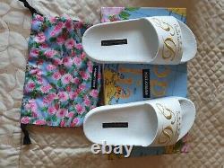DOLCE & GABBANA Kids girls Luxury Hotel Shoes / Sliders /Size 3 /35