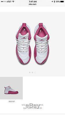DS Nike Air Jordan 12 XII Pink Valentines Day 2016 2Y Kids Retro Girl Pre School